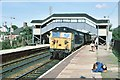 SW5435 : Penzance express at St. Erth station by Peter Whatley