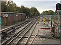 SU9997 : Railway tracks to the north of Chalfont & Latimer station by Oxyman