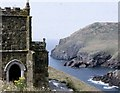 SW9680 : Port Quin Creek from Doyden Castle by Sarah Charlesworth