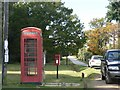 SU3211 : Woodlands: postbox № SO40 479 and phone by Chris Downer