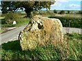 SU0975 : Standing stone near the road to Winterbourne Bassett by Brian Robert Marshall