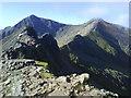 SH6155 : Crib Goch, looking towards Snowdon (1085m) and Garnedd Ugain (1065m) by Adele