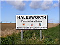 TM3776 : Halesworth Town Sign by Adrian Cable