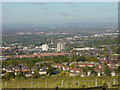 SJ9592 : View from Werneth Low on a sunny day by Janine Cook