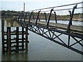 TQ7670 : Footbridge to River Medway Viewpoint by David Anstiss