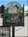TQ7962 : Bredhurst Village Sign by David Anstiss