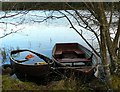 NN9147 : Anglers' boats on Loch Scoly : Week 46