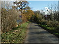 TL1375 : Approaching Barham on the road from Leighton Bromswold by Michael Trolove