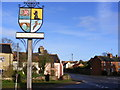 TM3958 : Snape Village Sign by Adrian Cable