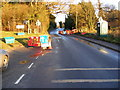 TM3569 : Ongoing Roadworks on A1120 at Peasenhall by Adrian Cable