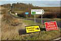 TL1273 : Lane closed to Barham by Stephen McKay