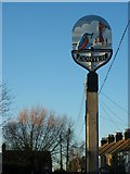TQ9664 : Conyer Village Sign by David Anstiss