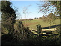 SU6806 : View from the lower to the upper paths within Portsmouth Golf Club by Basher Eyre