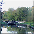 SO8798 : Wightwick Mill Lock, Staffordshire and Worcestershire Canal by Roger  Kidd