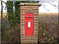 TM2570 : Brundish Corner Victorian Postbox, Crown Corner by Adrian Cable