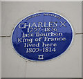 Photo of Charles X blue plaque