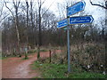 TL1793 : Green Wheel Signage Hampton Vale by Michael Trolove