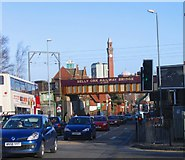 SP0482 : Selly Oak Railway Bridge over the A38 Bristol Road by Roy Hughes