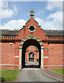 SJ7353 : Carriage archway in former stable block, Crewe Hall by Espresso Addict