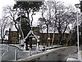 SZ0991 : Bournemouth: St. Swithun's church in snow by Chris Downer
