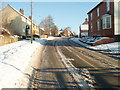 TL1183 : Snow fall, Main Street, Great Gidding by Michael Trolove