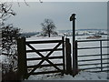TL1281 : Bridleway Gate, Little Gidding by Michael Trolove