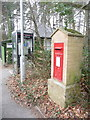 SU1212 : Alderholt: postbox № SP6 350 and phone, Station Road by Chris Downer