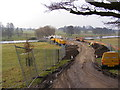 TM3573 : Construction of new bridge over the lake at Heveningham Park by Adrian Cable