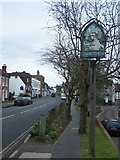 TQ6857 : West Malling Village Sign by David Anstiss