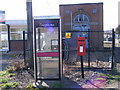 TM2141 : Telephone Box, Shepherd &amp; Dog Public House Postbox &amp; Electricity Sub-Station by Adrian Cable