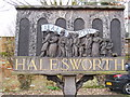 TM3877 : Halesworth Town Sign by Adrian Cable