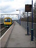 SP0889 : Train approaching Aston Station by Philip Halling