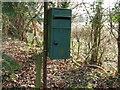 TQ0721 : Green Post Box by Dave Spicer