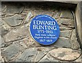 Photo of Edward Bunting blue plaque