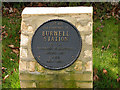 Photo of Burwell railway station black plaque