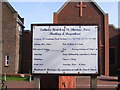 TQ4685 : St.Thomas More Catholic Church Sign, Barking by Adrian Cable