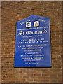 SD7409 : St Osmund Catholic Church, Sign by Alexander P Kapp