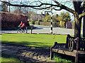 SJ8778 : Junction with finger-post nr Prestbury by Geoff Royle