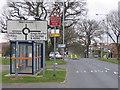 SP0277 : Traffic Island West Heath. by Roy Hughes