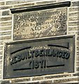 SE0527 : Plaque on Mount Tabor Sunday School by Humphrey Bolton