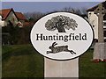 TM3473 : Huntingfield Village Sign by Adrian Cable