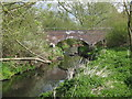 SP0581 : Brick Footbridge Over The River Rea, Ten Acres. by Roy Hughes