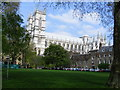 TQ3079 : Deans Yard and Westminster Abbey by PAUL FARMER