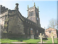 SJ7560 : North side of St Mary's church, Sandbach by Stephen Craven