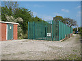 SJ7463 : Railway substation at Hollins Green by Stephen Craven