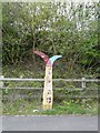 SJ8890 : National Cycle Route Milepost, Stockport by Gerald England
