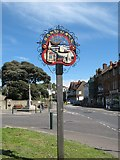 TR2035 : Sandgate Village Sign by David Anstiss