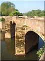 SO8352 : Powick Old Bridge by Philip Halling