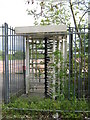 SP0076 : Rover East Works, Turnstile Still There - No Factory and Nature Taking Over by Roy Hughes