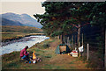 NG9155 : Wild camping by the River Torridon. by Peter Bond